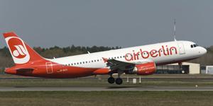 Flug mit dem A320-300 / © airberlin