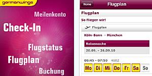 Bequem unterwegs einchecken / © Germanwings