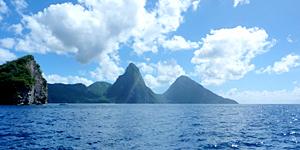 Die Pitons vor St. Lucia