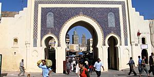 Reiseziel Fes: Blaues Tor Bab Boujeloud