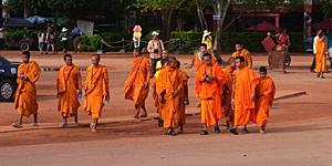 Junge Mönche in Kambodscha