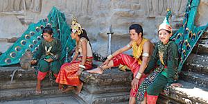 Tempeltänzer in Angkor Wat - Moderne Apsaras