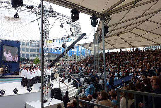 Der Seemannschor Hannover auf der Bühne