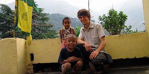 Schöne Begegnung mit den beiden tibetischen Kindern