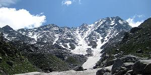 An der Schneegrenze, dem höchsten Punkt unserer Tour
