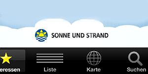 Reise-App Sonne und Strand