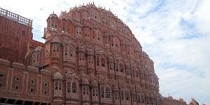Der Hawa Mahal oder Palast der Winde in Jaipur © P.Höhnel