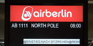 Für das Polarabenteuer gibt es eine speziell reservierte Flugnummer AB1111: airberlin