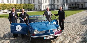 Im Bild v.l.: Christian Walter, Christian Schön, Rolf Menzel, Andreas Schmitt