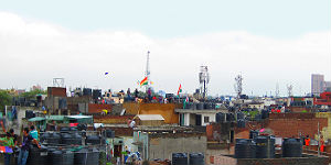 Feiern über den Dächern Delhis zum Independence Day / P. Höhnel