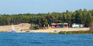 Der Strand am Geierswalder See © Melanie Kiel