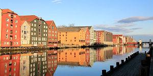 Holzhäuser in Trondheim © Brigitte Bonder