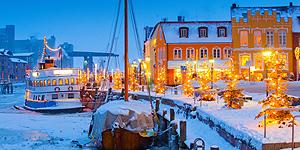 Weihnachtlicher Husumer Hafen