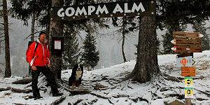 Mit Helmut Gufler auf Wanderung zur Gompm Alm © Brigitte Bonder