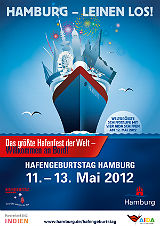 Hamburg feiert den 823. Hafengeburtstag