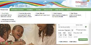 Ethiopian Airlines schaltet neue Webseite frei