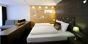 Stilvolle Doppelzimmer © Hubertus Alpin Lodge & Spa