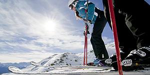 Sieben Skigebiete mit nur einem Skipass befahren – das geht mit der Vinschgau Ski Card, hier im Skigebiet Haider Alm.