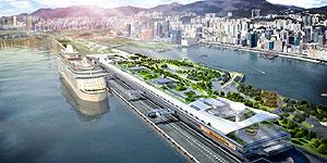 "Anlegen, wo früher Flugzeuge abhoben: Das neue ""Kai Tak Cruise Terminal"" in Hong Kong"