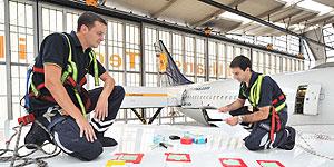 Lufthansa fliegt auf Haifischhaut