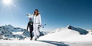 Frühlingshaftes Skivergnügen auf Tiroler Gletschern