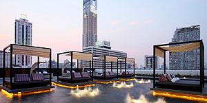 Dachterrasse des Centara Watergate Pavillon Hotel Bangkok