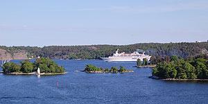 Auf Ostseekreuzfahrt durch die Schärenlandschaft vor Stockholm  Foto: M.Kiel