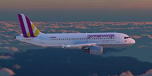 Germanwings -Testsieger im Flugatlas