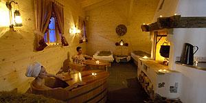 Entspannen in der Rustikal Suite des Hotel-Spas © Hotel Bad Moos