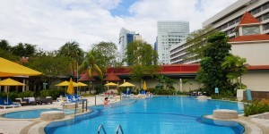 Pool im Hotel Jen Tanglin