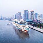 Erstanlauf von AIDAbella in Shanghai