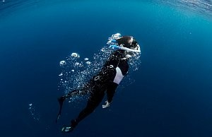 Free diving champion Christian Redl AMEO Powerbreather © AMEO Sports GmbH
